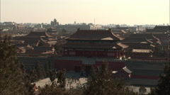 Forbidden City entrance, Beijing, China Stock Footage