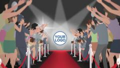 Show Logo On The Red Carpet - stock after effects