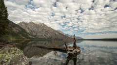 Time Lapse at Jenny Lake. Stock Footage