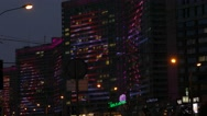 Stock Video Footage of Russia.Moscow - 2015: 4K Night illumination on the New Arbat Street