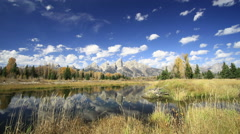 Time Lapse at Schwabacher Landing Stock Footage