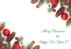 Christmas Greeting Card - stock photo
