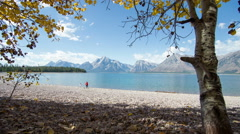 TIme Lapse on Jackson Lake Grand Tetons Stock Footage