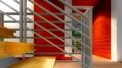 Stock Illustration of Modern staircase - interior