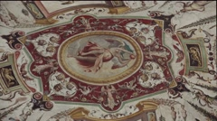 ULTRA HD 4K real time shot,The interior of Uffizi Gallery, Florence Stock Footage