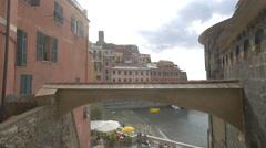Small arch between buildings in Vernazza, Cinque Terre Stock Footage