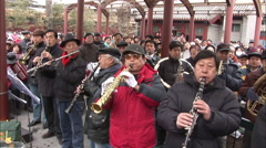 Wind instruments, Chinese orchestra, China - stock footage