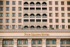 Four Seasons Hotel at Manezh square in Moscow, Russia Stock Photos