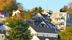 Homes in Portland Maine Stock Footage