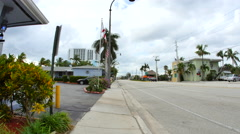 Hollywood Florida sidewalk Arkistovideo
