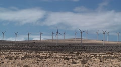 Wind turbines spinning Stock Footage