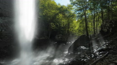 Ozone Falls Forest Mist Waterfall Tennessee - stock footage