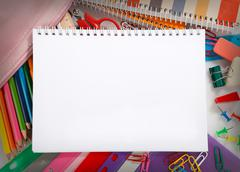 educational supplies - stock photo