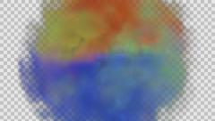 Animated red, green and blue gas mixing together  Stock Footage
