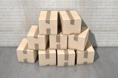 Cardboard Box Pile Industrial - stock illustration