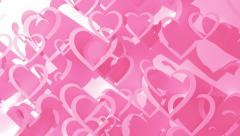 Animated Background With Hearts Stock Footage