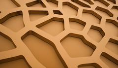 Orange cell mesh concept rendered Stock Illustration