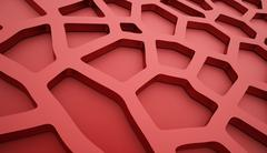 Cell mesh background red - stock illustration