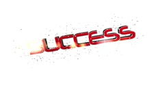 Success in red letters Stock Footage