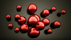 Red abstract sphere concept background rendered - stock illustration
