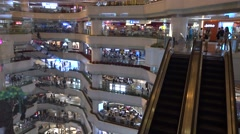 A huge shopping mall in tianhe guangzhou,China Stock Footage