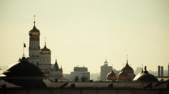 Moscow. Kremlin Domes. Ivan the Great belltower Stock Footage