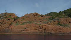 Stock Video Footage of Red Rocks on Coast, Corsica