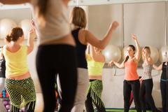 Dance class for women Stock Photos
