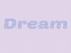 Stock Illustration of dream written as a sketch on paper