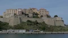 Beautiful Castle on Seacoast Stock Footage