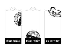 black friday price tags - stock illustration