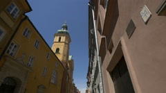 View of St. Martin's Church in Warsaw Stock Footage