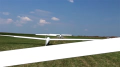 Gliders waiting to go into the air Stock Footage