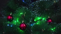 decorated Christmas tree - stock footage
