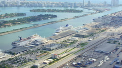 Port Miami Fisher Island Stock Footage