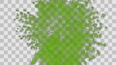 Animated spreading green gas in all dircetion  Stock Footage