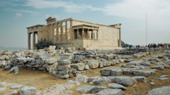 View of an ancient greek temple Stock Footage