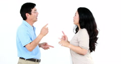 Couple not talking after arguing Stock Footage
