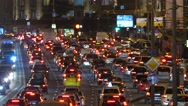 Stock Video Footage of Russia. Moscow - 2015: 4K V Night traffic jam on the Garden Ring