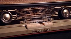 Vintage 60s radio Stock Footage