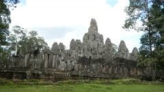Cambodia temples landmark timelapse bayon stone construction ancient building - stock footage