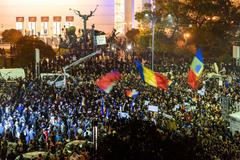 Stock Photo of Third Day Of Protest In University Square Against Corruption