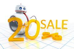 Stock Illustration of sweet little robot sale