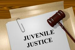 Juvenile Justice concept - stock illustration