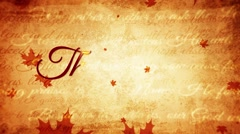 Thanksgiving day vintage background, fall, ancient, old autumn background .mp - stock footage