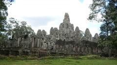 Cambodia temples landmark angkor wat bayon stone construction ancient building - stock footage