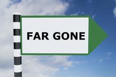 Far Gone concept Stock Illustration