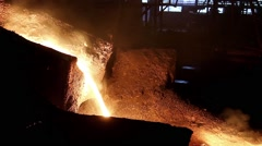 Molten steel pouring Stock Footage