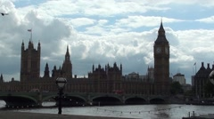 London BIg Ben Westminster Stock Footage