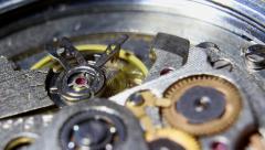 Oscillating Mechanism Wristwatches Stock Footage